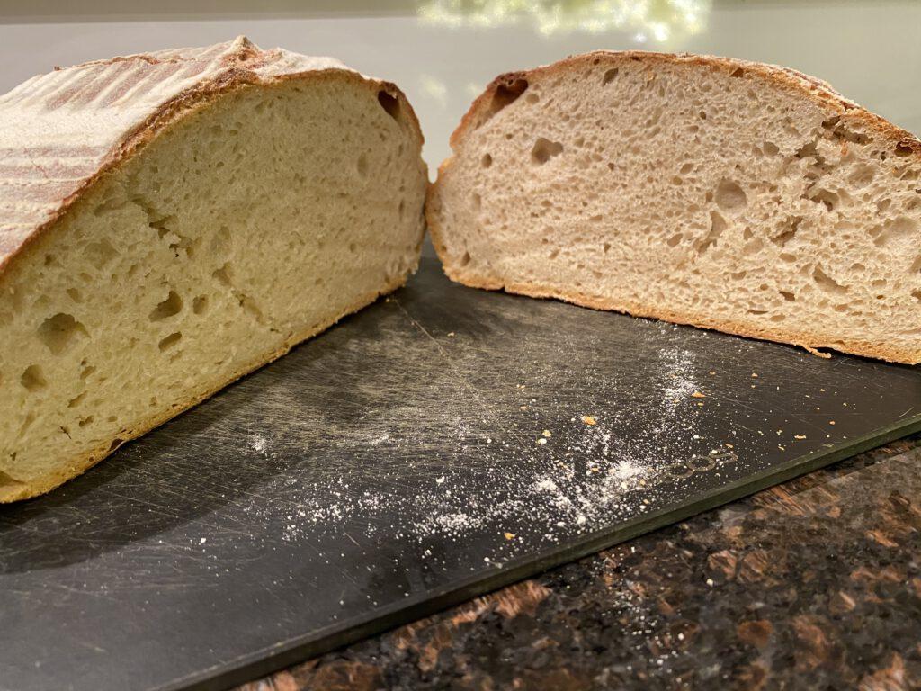 Miten hapanjuurileipää leivotaan - lopputuloksena kohtuullisesti noussut leipä